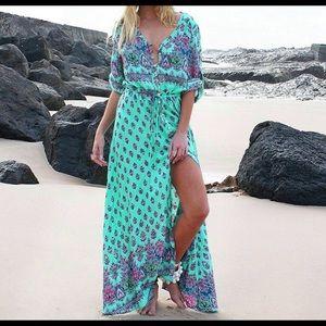 BOHO Button Down Maxi Dress